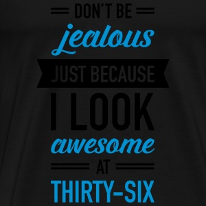 Awesome At Thirty-Six Toppar - Premium-T-shirt herr