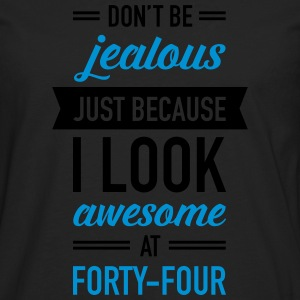 Awesome At Forty-Four T-shirts - Herre premium T-shirt med lange ærmer