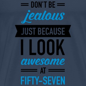 Awesome At Fifty-Seven Tops - Men's Premium T-Shirt