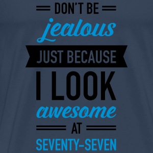 Awesome At Seventy-Seven Tops - Männer Premium T-Shirt
