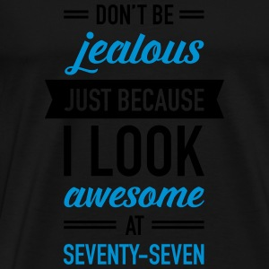 Awesome At Seventy-Seven Tops - Men's Premium T-Shirt