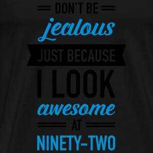 Awesome At Ninety-Two Tops - Men's Premium T-Shirt