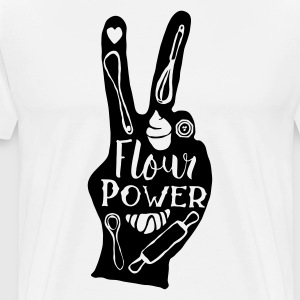 Blanc Flour Power Tabliers - T-shirt Premium Homme