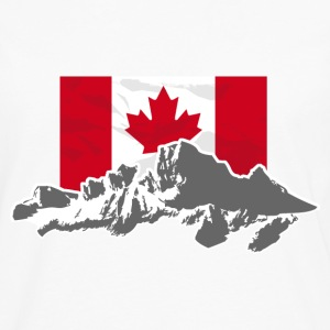 Canada - Maple Leaf- Mountains & Flag T-Shirts - Männer Premium Langarmshirt