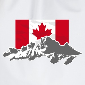 Canada - Maple Leaf- Mountains & Flag Pullover & Hoodies - Turnbeutel