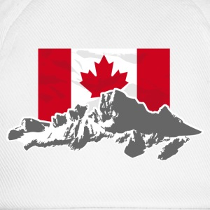 Canada - Maple Leaf- Mountains & Flag Pullover & Hoodies - Baseballkappe
