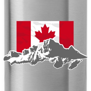 Canada - Maple Leaf- Mountains & Flag Pullover & Hoodies - Trinkflasche