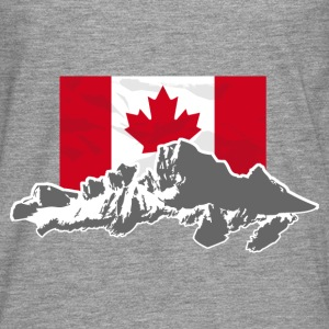 Canada - Maple Leaf- Mountains & Flag Pullover & Hoodies - Männer Premium Langarmshirt