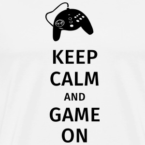 keep calm and game on Krus & tilbehør - Herre premium T-shirt