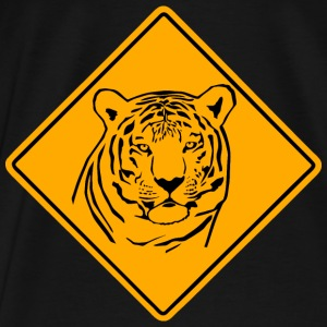 Tiger Road Sign Pullover & Hoodies - Männer Premium T-Shirt