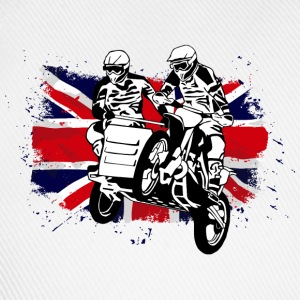Sidcar Moto Cross Racing - Union Jack Flag Felpe - Cappello con visiera