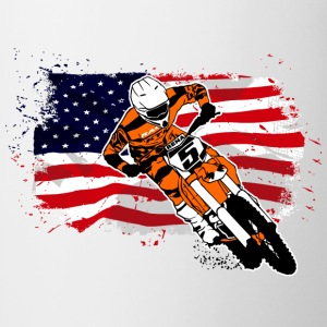 Moto Cross Racing - USA Flag Koszulki - Kubek