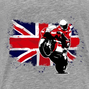 Motorcycle Racing - Union Jack Flag Pullover & Hoodies - Männer Premium T-Shirt
