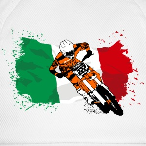 Moto Cross Racing - Italy Flag Felpe - Cappello con visiera