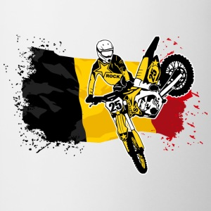 Moto Cross Racing - Belgium Flag Koszulki - Kubek
