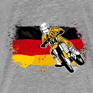 Moto Cross Racing - German Flag Tröjor - Premium-T-shirt herr