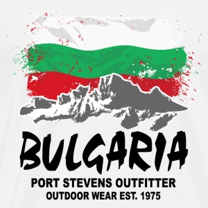 Bulgaria - Mountains & Flag Langarmshirts - Männer Premium T-Shirt