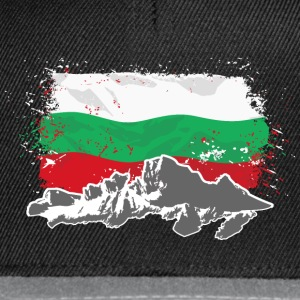 Bulgaria - Mountains & Flag Pullover & Hoodies - Snapback Cap