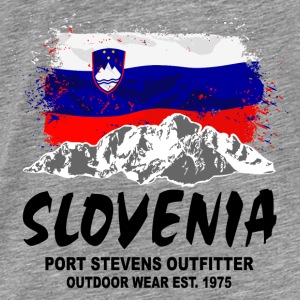 Slovenia - Mountains & Flag Pullover & Hoodies - Männer Premium T-Shirt