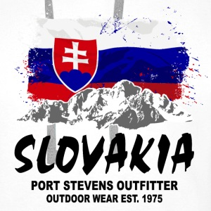 Slovakia - Mountains & Flag T-Shirts - Männer Premium Hoodie