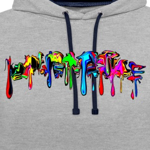 Color, rainbow, graffiti, splash, paint, comic  - Contrast Colour Hoodie