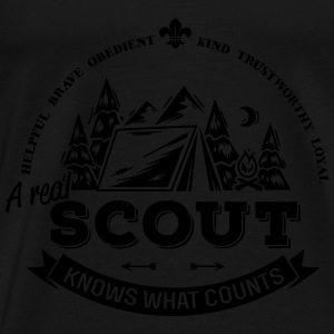 A real scout knows what counts Tops - Men's Premium T-Shirt