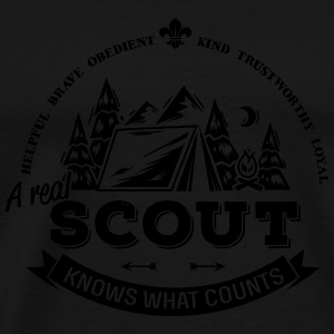 A real scout knows what counts Tassen & rugzakken - Mannen Premium T-shirt