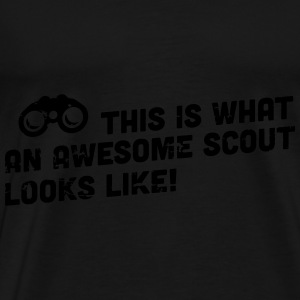 This is what an awesome scout looks like Toppe - Herre premium T-shirt