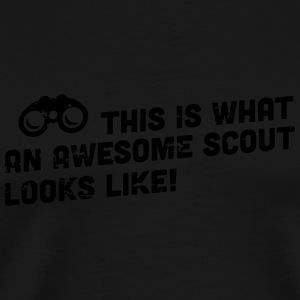 This is what an awesome scout looks like Bags & Backpacks - Men's Premium T-Shirt