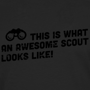 This is what an awesome scout looks like Tassen & rugzakken - Mannen Premium shirt met lange mouwen
