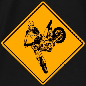 Moto Cross Racing Road Sign Sweat-shirts - T-shirt Premium Homme