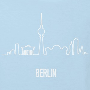 Berlin Skyline Hand Drawn - Kinder Bio-T-Shirt