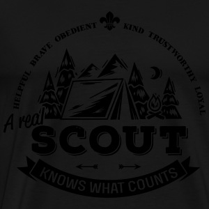 A real scout knows what counts Hoodies & Sweatshirts - Men's Premium T-Shirt