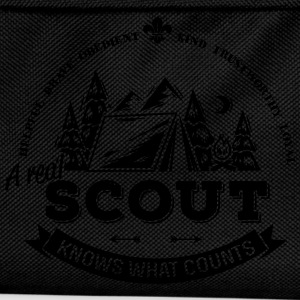 A real scout knows what counts T-shirts - Ryggsäck för barn