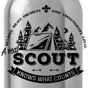 A real scout knows what counts T-Shirts - Trinkflasche