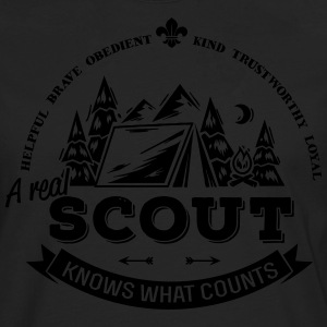 A real scout knows what counts T-Shirts - Männer Premium Langarmshirt