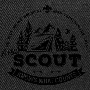 A real scout knows what counts T-Shirts - Snapback Cap