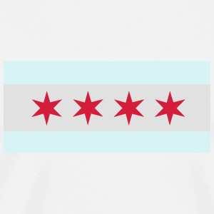 Flag of Chicago Mugs & Drinkware - Men's Premium T-Shirt