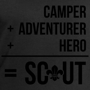 Camper+adventurer+hero = Scout Shirts - Men's Sweatshirt by Stanley & Stella