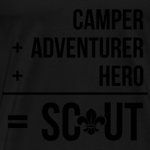 Camper+adventurer+hero = Scout Tops - Mannen Premium T-shirt