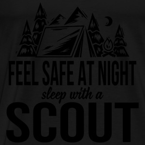 Feel safe at night, sleep with a scout Tops - Camiseta premium hombre