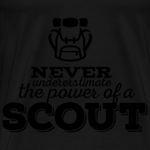 Never underestimate the power of a scout Sweaters - Mannen Premium T-shirt