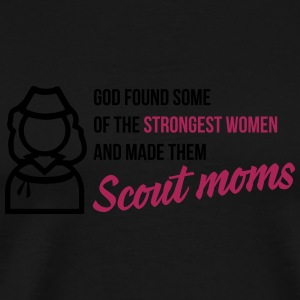 God found some of the strongest scout moms Tassen & rugzakken - Mannen Premium T-shirt
