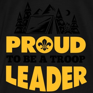 Scout: Proud to be a troop leader Tröjor - Premium-T-shirt herr