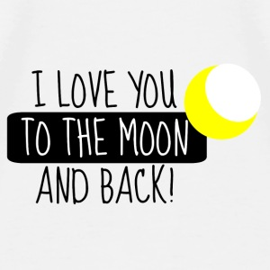 I Love you to the moon and back - Männer Premium T-Shirt