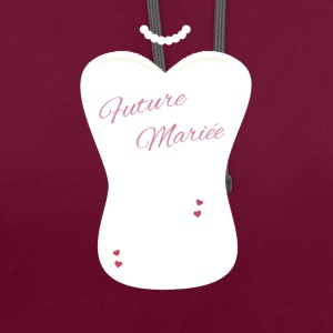 future marieé fille evjf Tee shirts - Sweat-shirt contraste