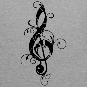 Clef, note, sheet, music, musical, notes, classic  - Contrast Colour Hoodie