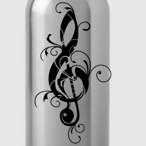 Clef, note, sheet, music, musical, notes, classic T-shirts - Drinkfles