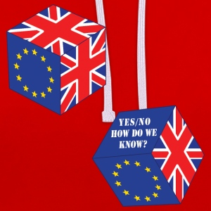 Funny EU Referendum Roll of the Dice - Contrast Colour Hoodie