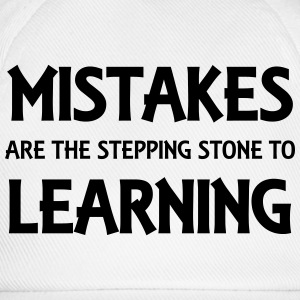 Mistakes are the stepping stone to success T-shirts - Basebollkeps